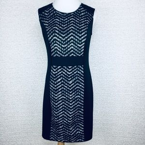 AA Studio Black/White Sheath dress. Size PS